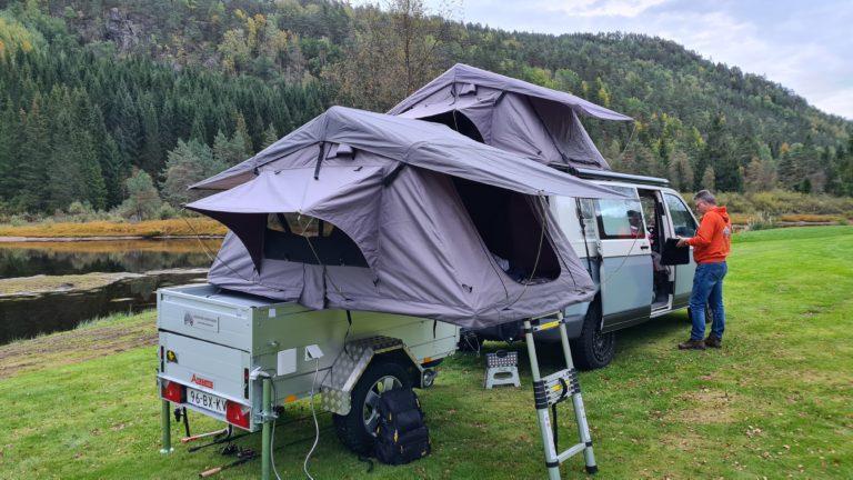 road trip met een daktent van campventure door Noorwegen